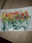 Makaronowi Picasso - kl.2 - malowanie makaronem